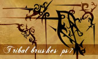 刺状式花纹、纹饰边角图案Photoshop笔刷
