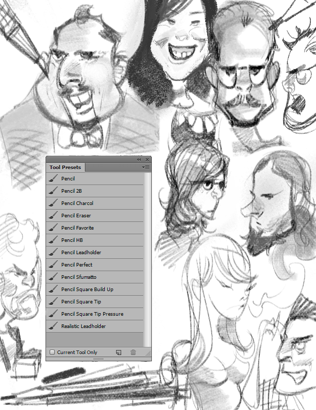 两个铅笔Photoshop工具预设.tpl笔刷素材包下载 铅笔笔刷 PS工具预设素材下载  photoshop brush