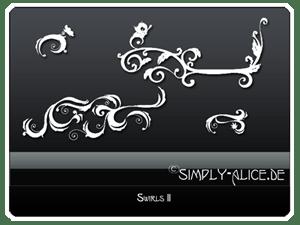 漂亮的植物漩涡枝叶花纹图案PS笔刷 植物花纹笔刷  flowers brushes