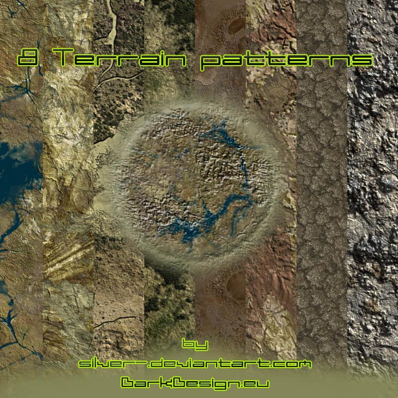 8种土壤、地形纹理Photoshop填充素材下载