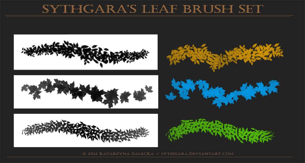 枫叶、树叶、绿叶、落叶PS笔刷素材