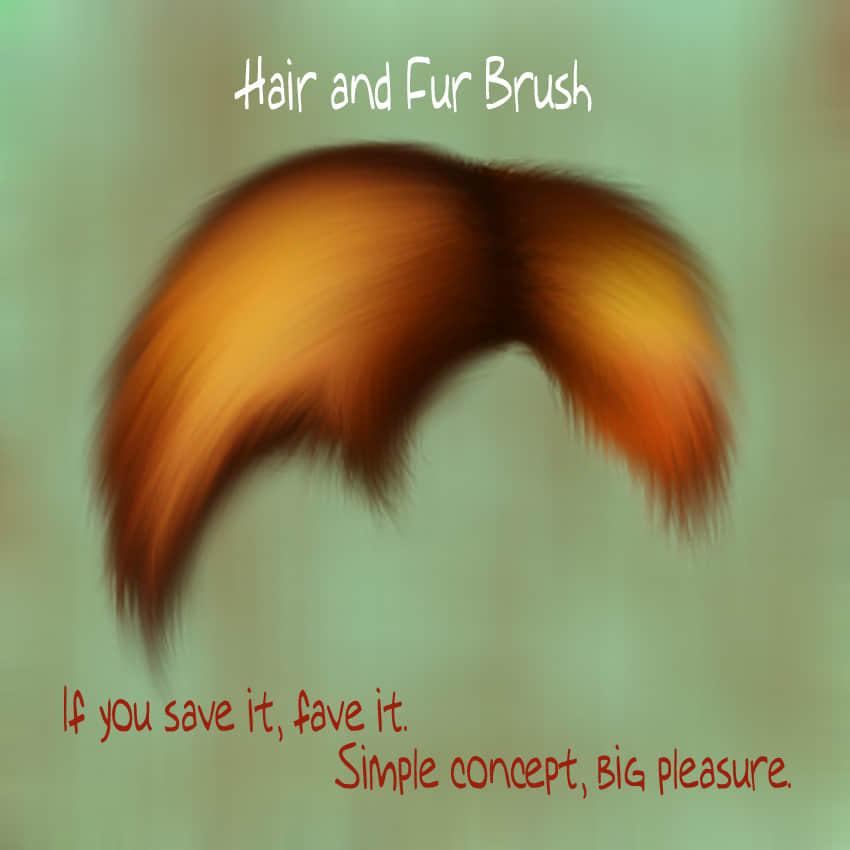 简单的头发、毛发、发丝Photoshop笔刷素材