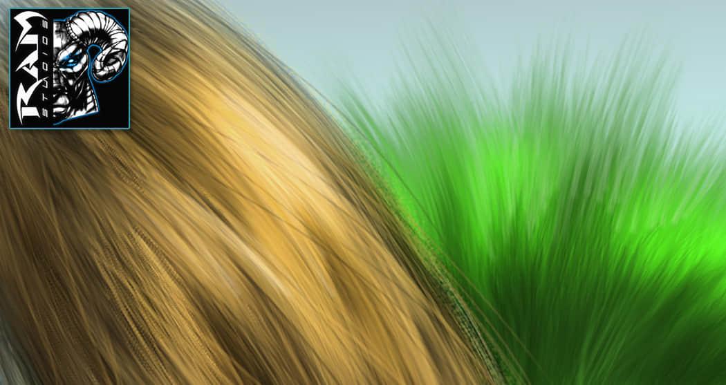 手绘头发、毛发Photoshop笔刷素材
