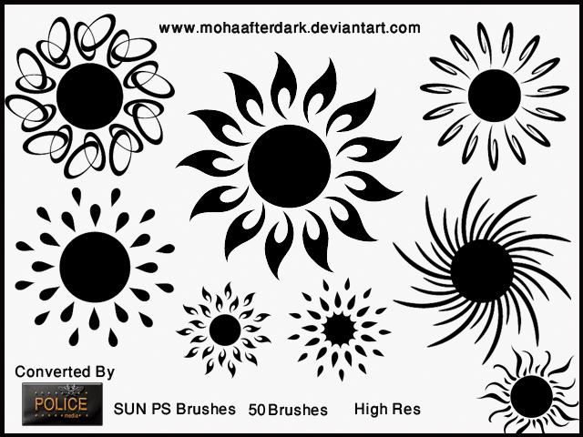 太阳花花纹图案Photoshop笔刷素材