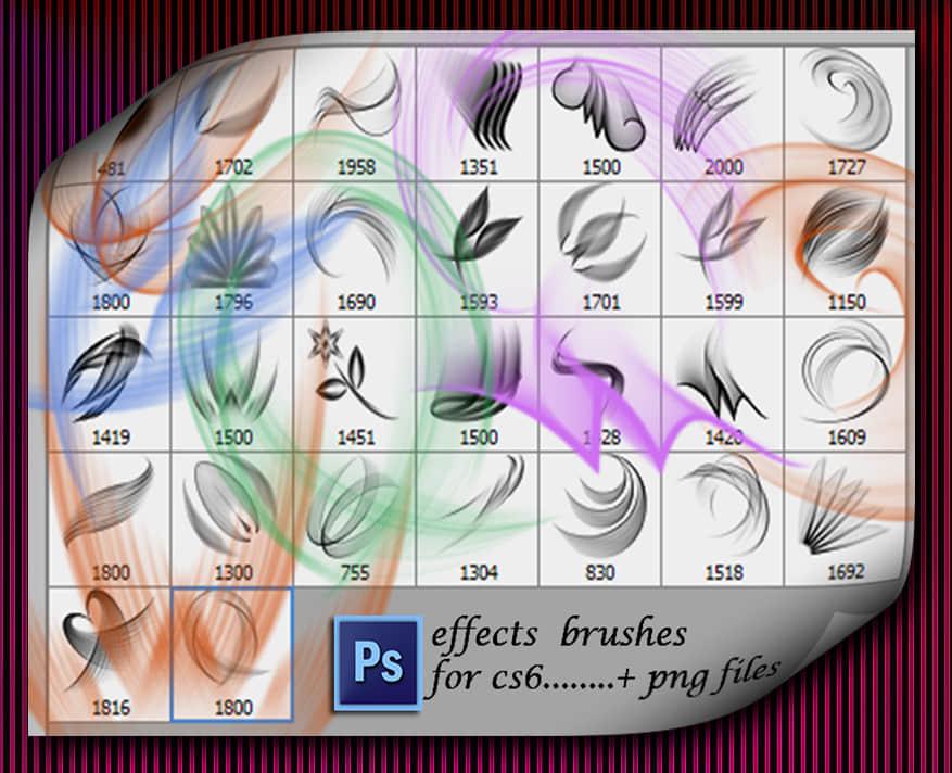 抽象光影效果图案Photoshop笔刷素材
