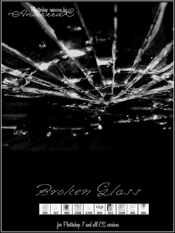 被击中的玻璃、碎掉玻璃Photoshop笔刷素材 碎玻璃笔刷 玻璃笔刷  other brushes