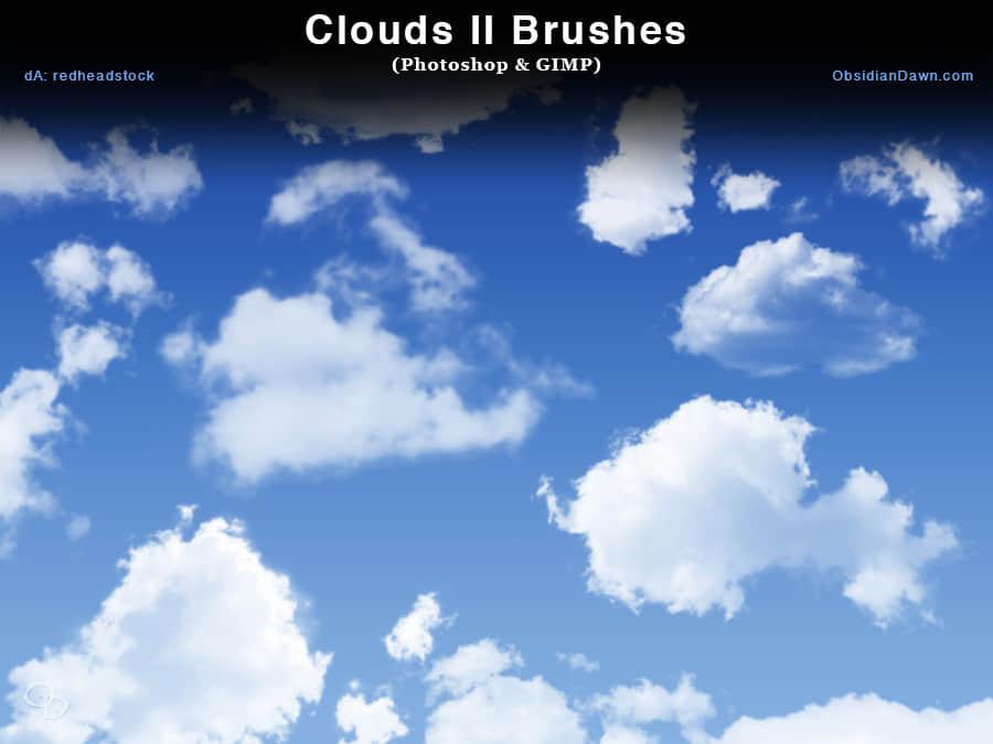 高清真实的云彩、云朵Photoshop笔刷素材下载