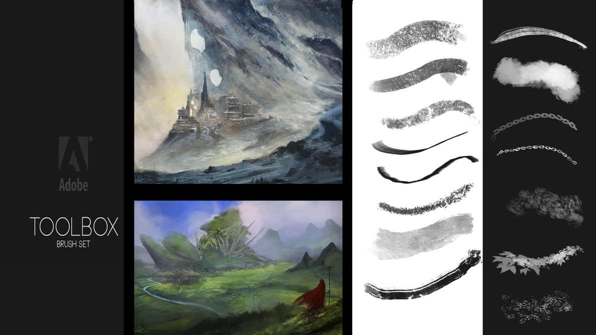 大型CG创作型笔刷Photoshop素材下载