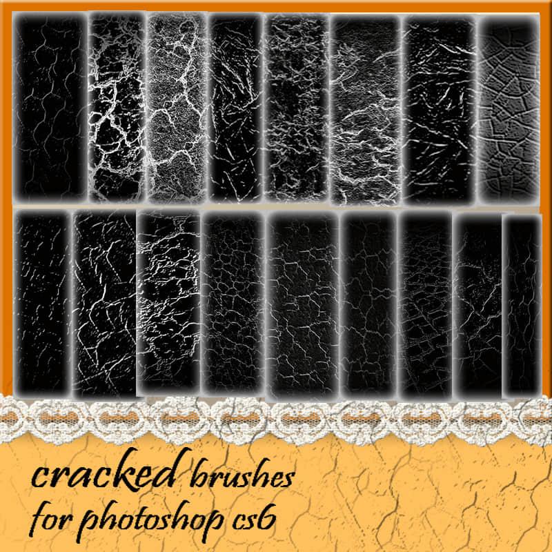 干燥的表面纹理、地面、皮肤表面Photoshop笔刷素材