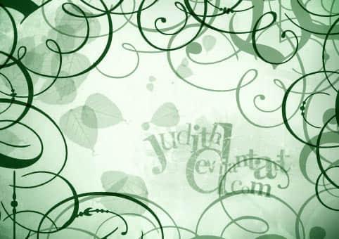 漩涡植物艺术花纹纹饰Photoshop笔刷下载