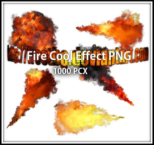 5种火焰爆炸、喷射效果Photoshop笔刷下载(PNG素材)