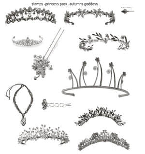 公主女皇的皇冠、王冠Photoshop笔刷下载