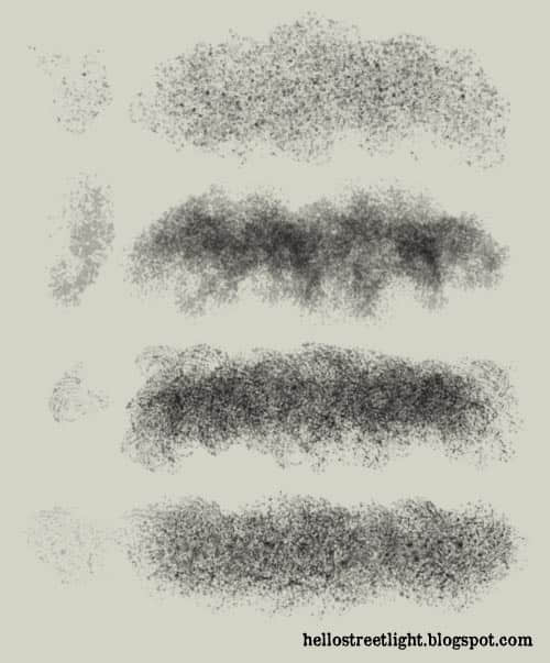 4种免费痕迹、污渍效果纹理PS笔刷下载