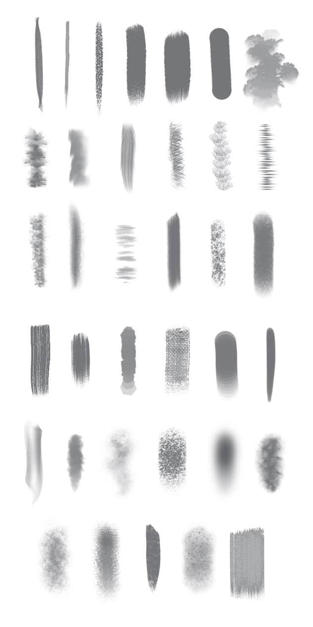 40种有用的Photoshop笔刷画笔类笔刷 杂乱笔刷 复合笔刷  photoshop brush