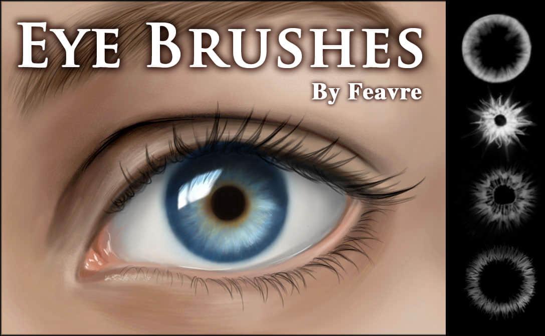 漂亮的美瞳、瞳孔效果Photoshop笔刷素材 美瞳笔刷  characters brushes