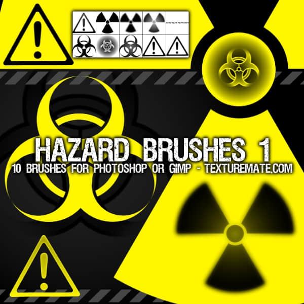 危险标志、核辐射标志、警告标志Photoshop笔刷下载