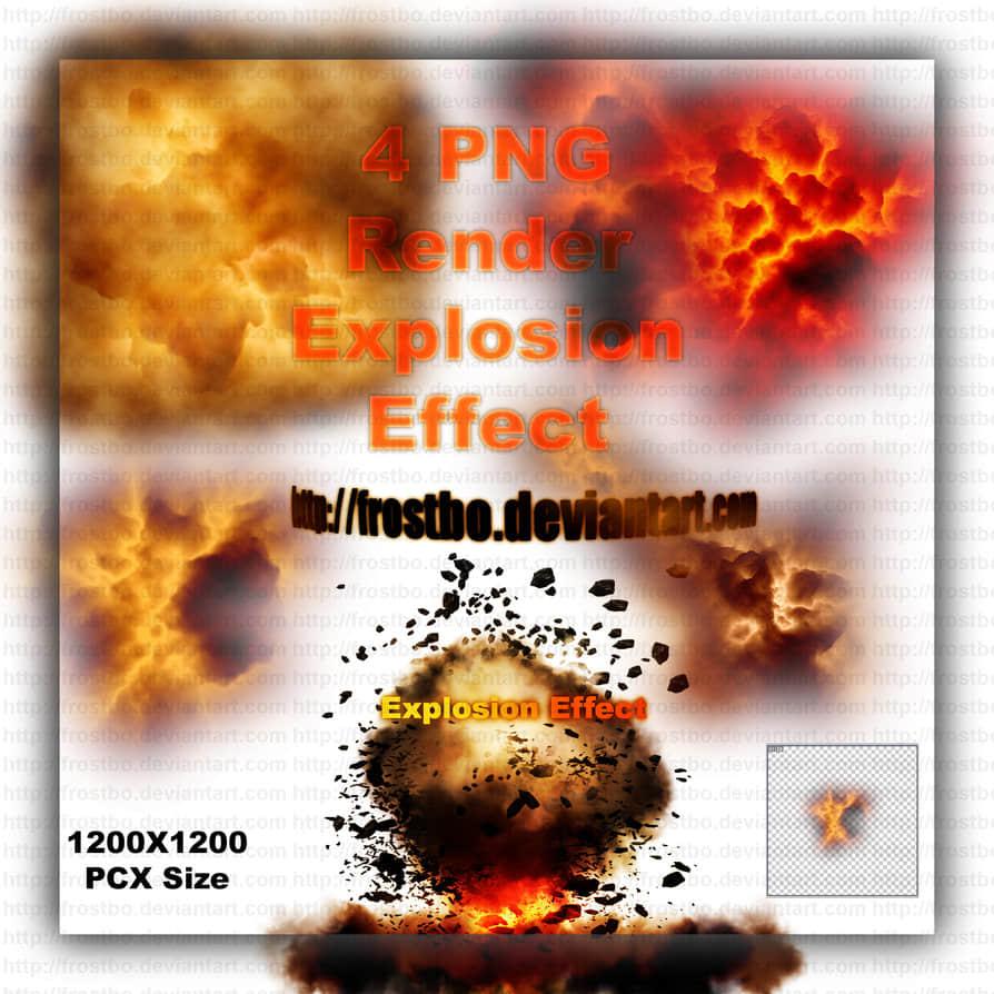 4种爆炸场景效果Photoshop笔刷下载(PNG图片素材) 超级笔刷 爆炸笔刷 火焰笔刷  flame brushes