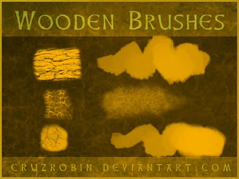 树皮、木头纹理Photoshop笔刷素材下载 树皮笔刷 树木笔刷 木材笔刷 木头纹理笔刷  plants brushes