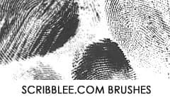人体指纹Photoshop笔刷下载 指纹笔刷  characters brushes