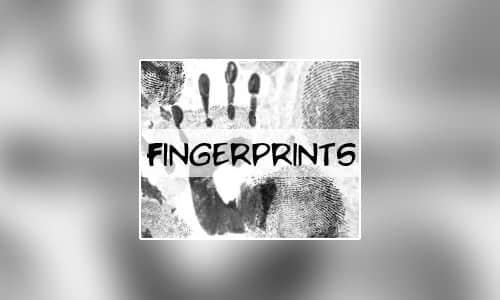 血手印、手掌印记、指纹Photoshop笔刷素材