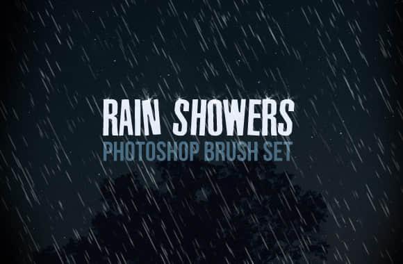 简单的下雨背景、雨水效果Photoshop笔刷 雨水笔刷 天气笔刷 下雨笔刷  water brushes