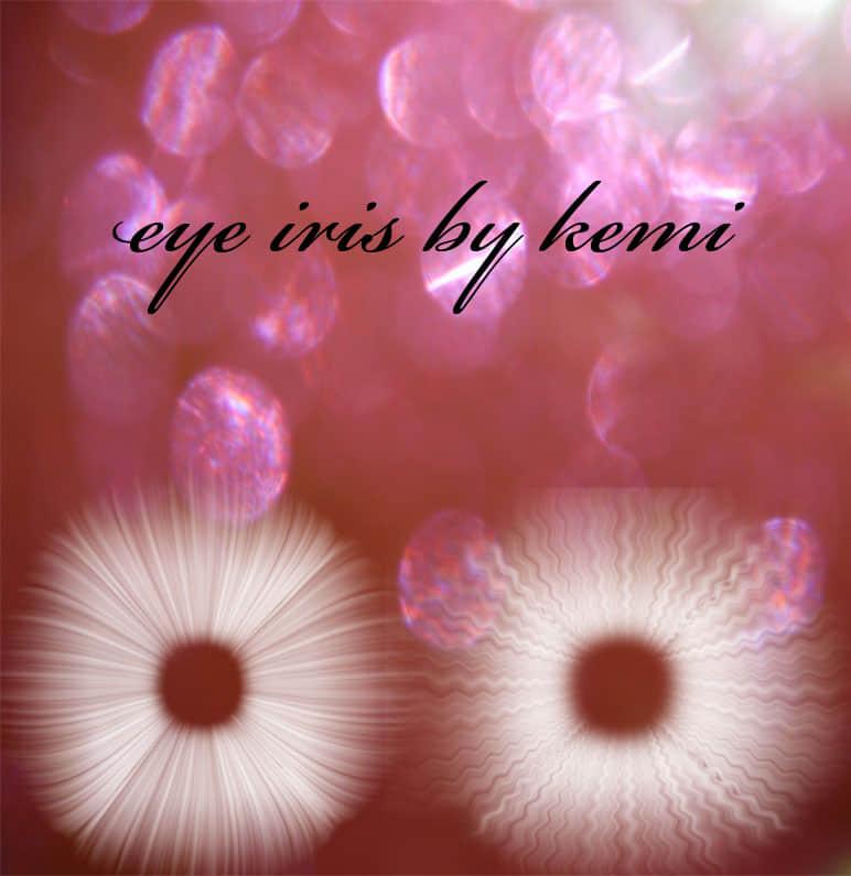 眼睛中的瞳孔、虹膜效果Photoshop笔刷素材 虹膜笔刷 瞳孔笔刷 眼睛笔刷  characters brushes