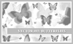 蝴蝶梦影Photoshop蝴蝶笔刷 蝴蝶笔刷  insects brushes