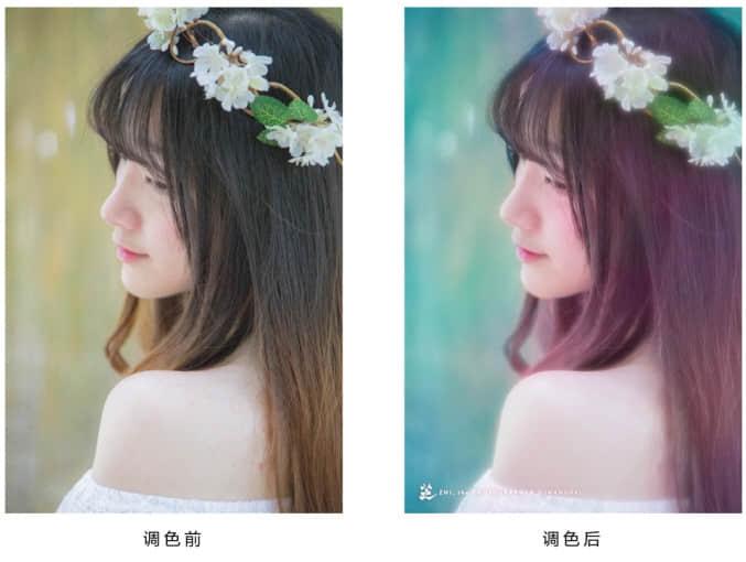PS调色:简单小清新女孩照片修改