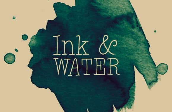墨水、水彩滴溅化开痕迹Photoshop笔刷素材