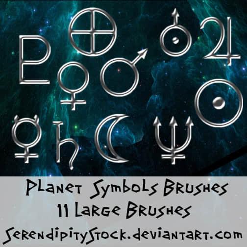常用符号Photoshop笔刷素材 男孩符号笔刷 女孩符号笔刷  symbols brushes