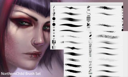 人物CG绘画创作Photoshop笔刷素材 绘画笔刷 CG笔刷  photoshop brush