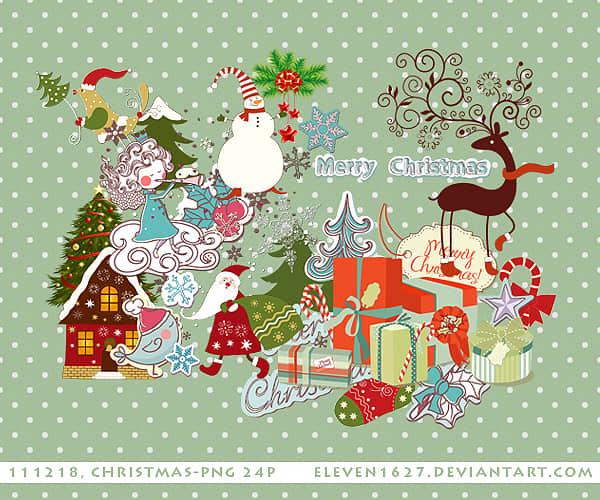24个圣诞节可爱卡通贴纸美图秀秀PNG图片素材 美图秀秀圣诞节素材  %e9%a5%b0%e5%93%81%e8%b4%b4%e7%ba%b8%e7%b4%a0%e6%9d%90