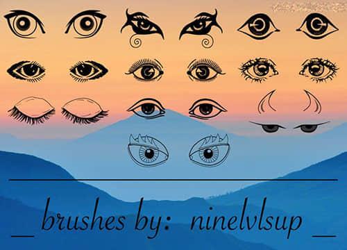 手绘眼睛图像Photoshop笔刷下载 眼睛笔刷  %e5%8d%a1%e9%80%9a%e7%ac%94%e5%88%b7
