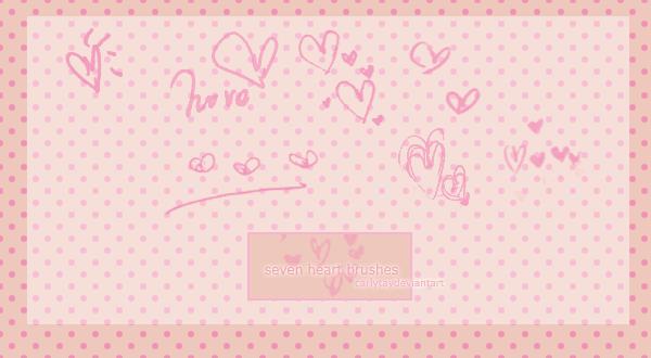 情人节手写爱心涂鸦PS笔刷下载 爱心笔刷 爱心涂鸦笔刷 情人节笔刷  love brushes %e6%b6%82%e9%b8%a6%e7%ac%94%e5%88%b7