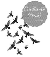 空中飞鸟、鸟群PS笔刷下载