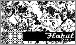 欧美植物艺术花纹图案Photoshop笔刷素材下载 植物花纹笔刷 手绘艺术花纹笔刷 印花笔刷  flowers brushes