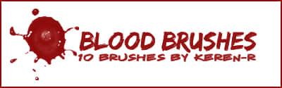 滴溅的血液PS笔刷下载 滴血笔刷  characters brushes
