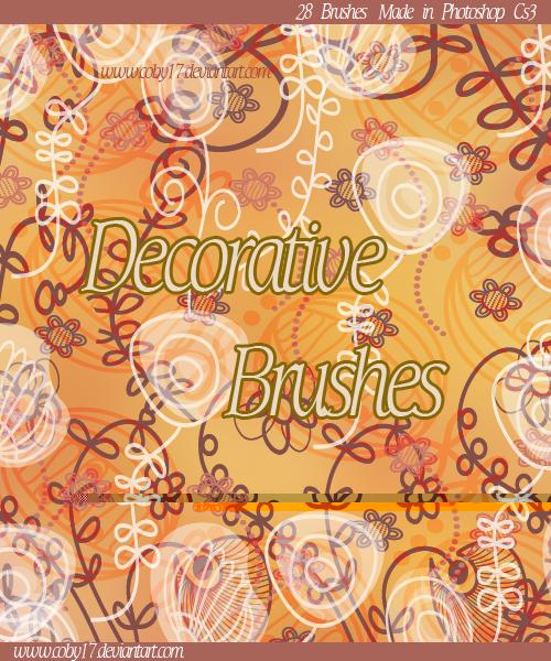 装饰性手绘植物花朵图形PS笔刷下载 植物花纹笔刷 手绘花纹笔刷  flowers brushes