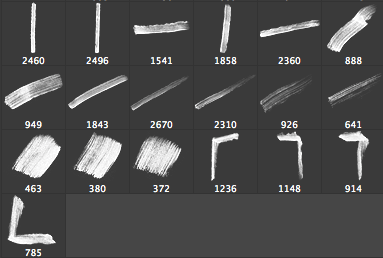 19种毛笔刷子涂痕Photoshop素材下载