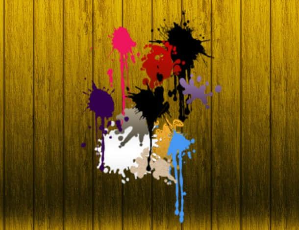 油漆喷溅、滴溅效果Photoshop笔刷素材下载