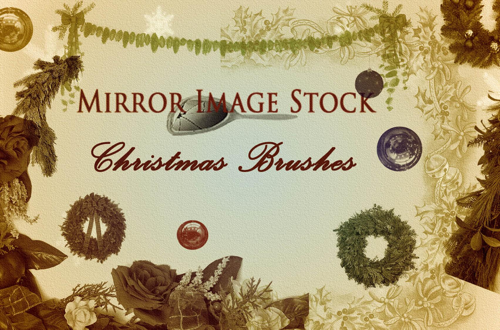 快乐圣诞节装饰Photoshop节日笔刷 节日笔刷 圣诞节笔刷  adornment brushes