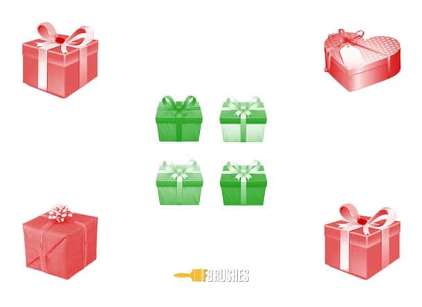 礼物盒子Photoshop笔刷下载