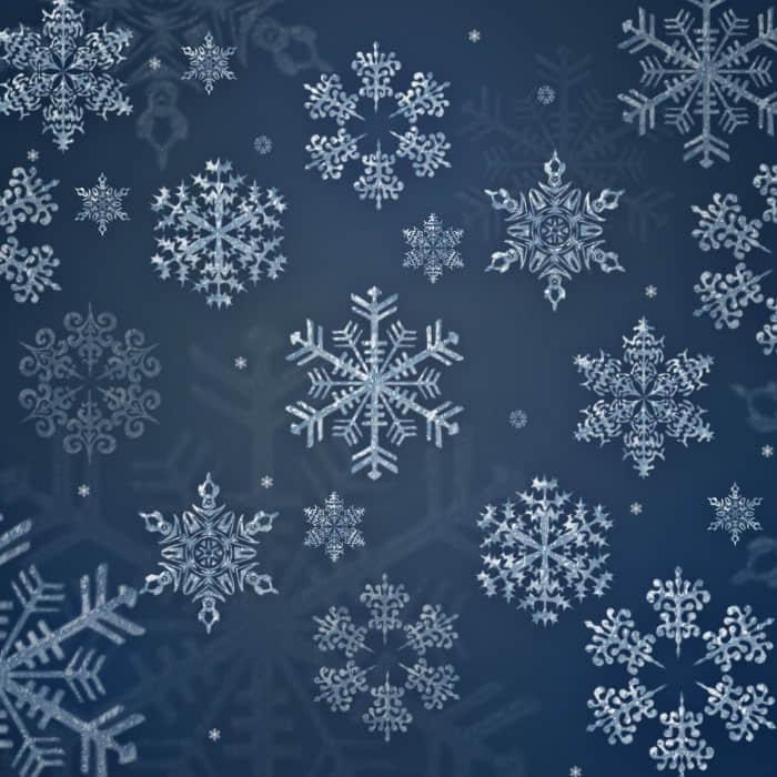 圣诞节经典雪花花纹图案Photoshop笔刷下载