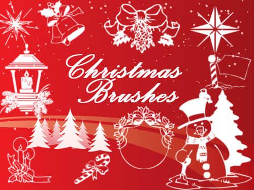 圣诞节卡通造型素材PS笔刷下载