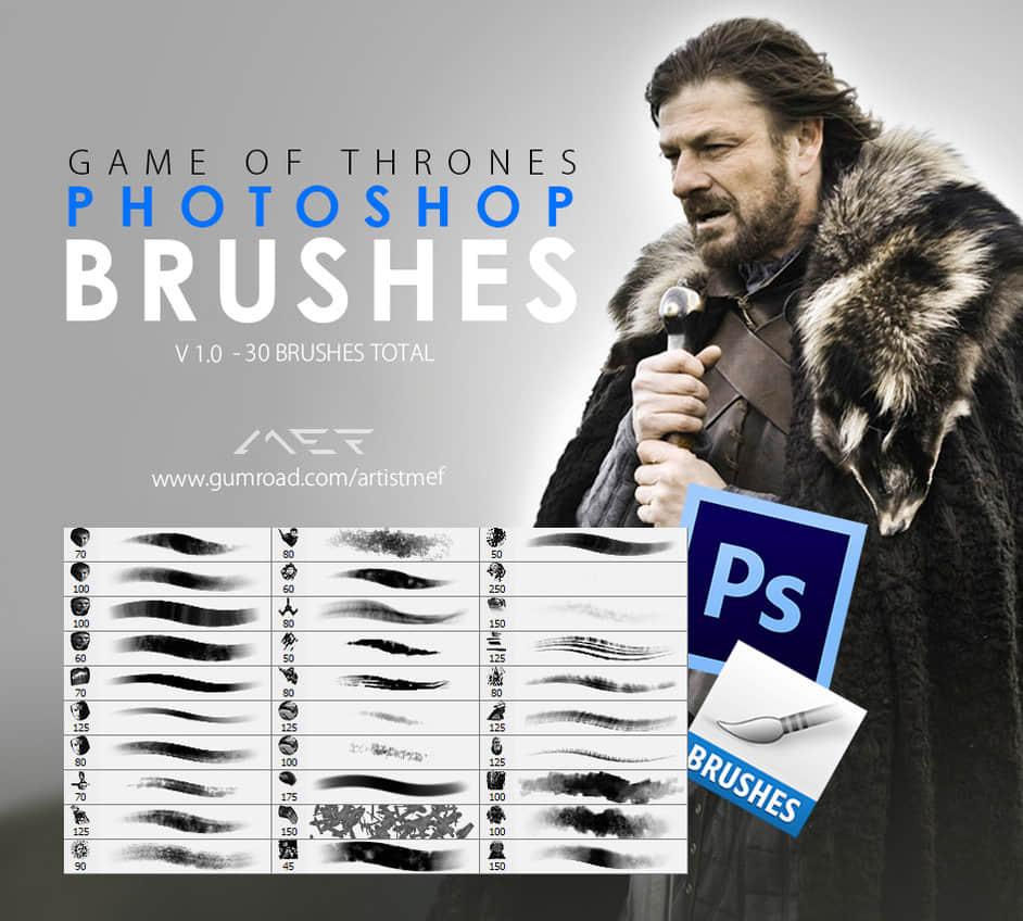 游戏数字艺术CG插画创作Photoshop笔刷套装 数字艺术笔刷 插画笔刷 CG笔刷  photoshop brush