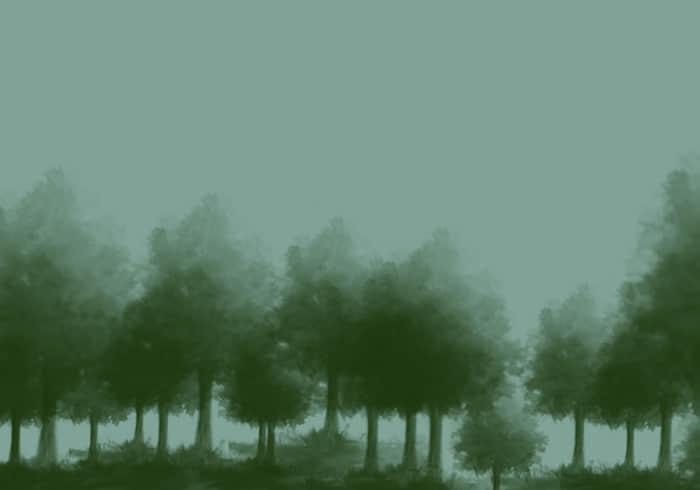 水墨树林、树木PS笔刷下载