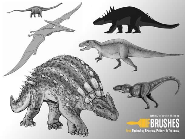 恐龙造型Photoshop笔刷