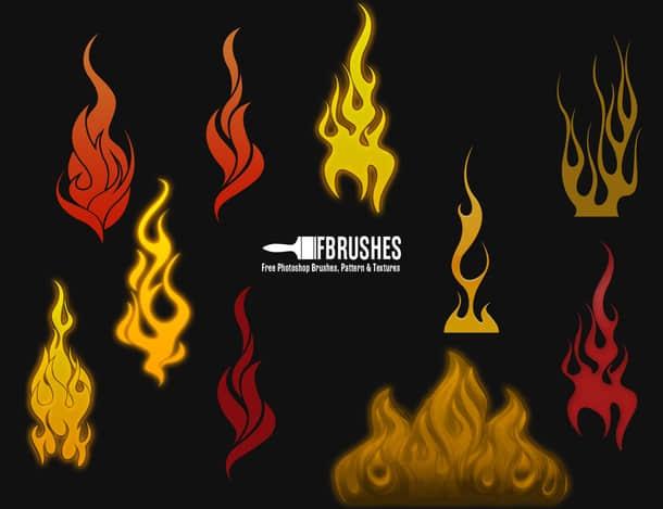 卡通火焰纹饰图案PS火焰纹章笔刷 火焰纹饰笔刷 火焰纹章笔刷 卡通火焰笔刷  flame brushes %e5%8d%a1%e9%80%9a%e7%ac%94%e5%88%b7