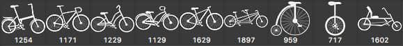 矢量自行车造型PS笔刷下载