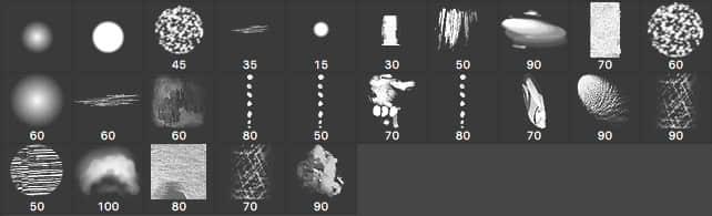 25个可以免费商业用途的Photoshop笔刷套装包下载(含.TPL工具预设)